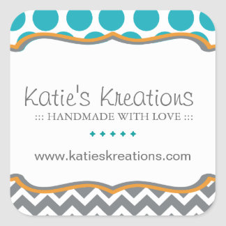 Whimsical Chevron and Dots Stickers