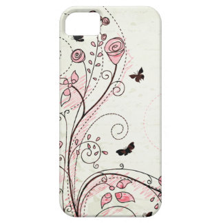 Whimsical chic floral swirls iphone 5 case