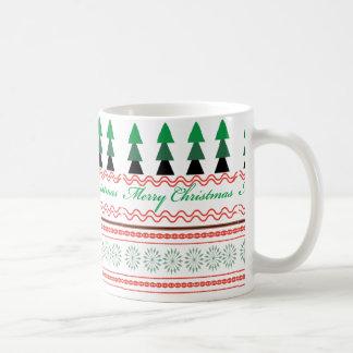 Whimsical Christmas Geometric patterns Coffee Mug
