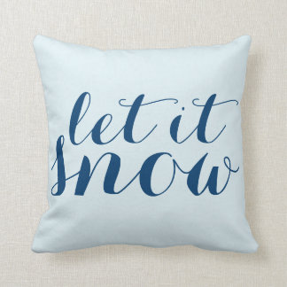 Whimsical Christmas Let it Snow Snowman Holiday Throw Pillow
