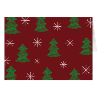 Whimsical Christmas Tree Pattern Card