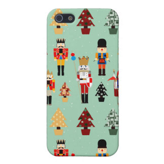 Whimsical Christmas Trees and Nutcrackers iPhone 5 Cases