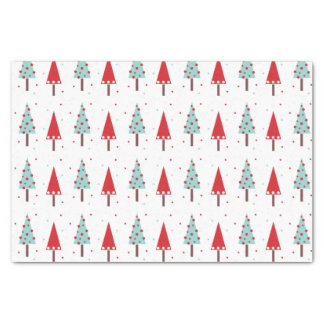 Whimsical Christmas Trees Pattern Tissue Paper