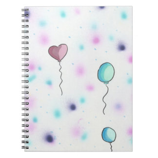 Whimsical Colored Candy Balloons2Notebook Journal Spiral Notebooks