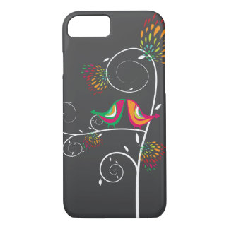 Whimsical Colorful Kissing Summer Birds Casing iPhone 7 Case