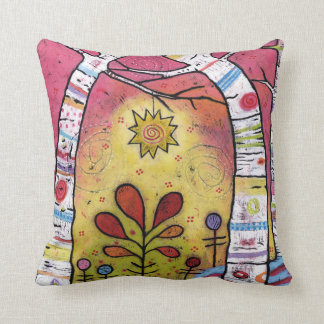 Whimsical, Colorful, Leaning into Starlight Throw Pillow