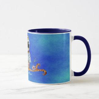 Whimsical Colorful Owl Customizable Coffee Mug