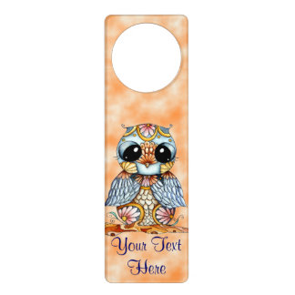 Whimsical Colorful Owl Door Hanger