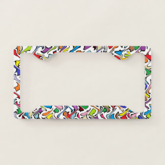Whimsical Colors License Plate Frame