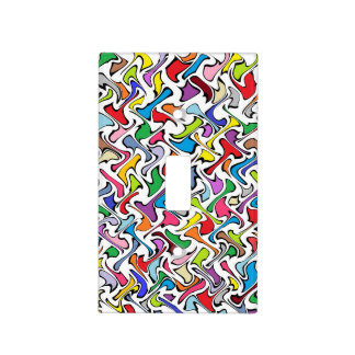Whimsical Colors Light Switch Cover