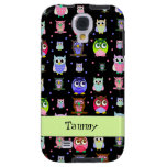 Whimsical Colourful Owls Samsung Galaxy S4 Case