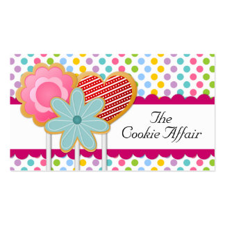 Whimsical Cookie Pops Business Cards