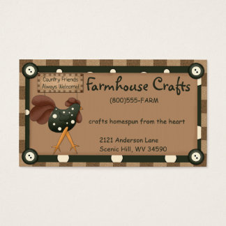 Whimsical Country Rooster Business Card