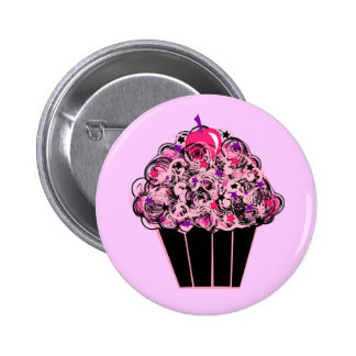 Whimsical Cupcake 2 Inch Round Button