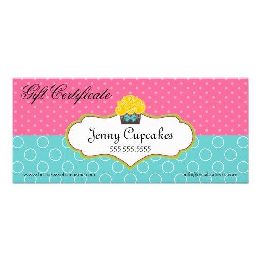 Whimsical cupcake bakery gift certificate zazzle for Zazzle gift certificate