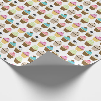 Whimsical Cupcakes Pattern Wrapping Paper