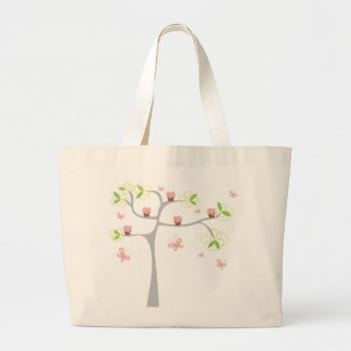 Whimsical Cupcakes Tree Butterflies Sweet Birthday Large Tote Bag