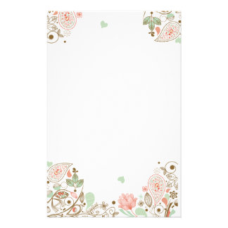 Whimsical & Cute Abstract Floral #1-3S Stationery Design