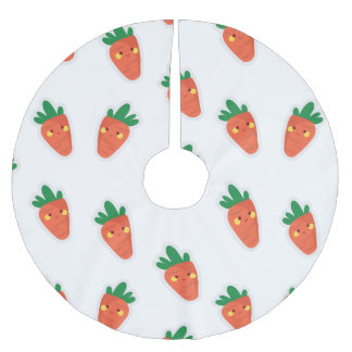 Whimsical cute chibi vegetable pattern brushed polyester tree skirt