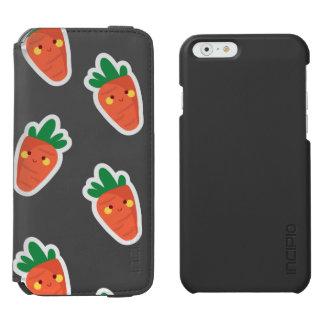 Whimsical cute chibi vegetable pattern incipio watson™ iPhone 6 wallet case