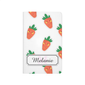 Whimsical cute chibi vegetable pattern journal