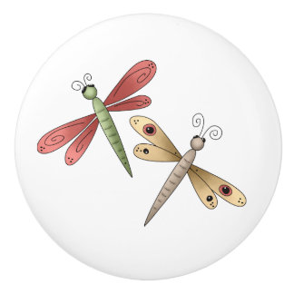 Whimsical Cute Dragonflies Drawer Knobs
