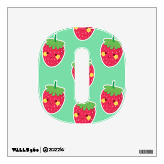Whimsical Cute Strawberries character pattern Wall Decal