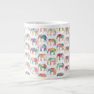 Whimsical Cute Watercolor Elephants Pattern Jumbo Mugs