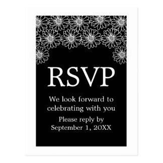 Whimsical Daisies RSVP Postcard