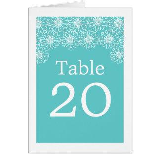Whimsical Daisies Wedding Table Card