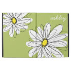 """Whimsical Daisy with Lime Green Background iPad Pro 12.9"""" Case"""