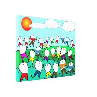 Whimsical Dental Art Wrapped Canvas