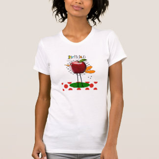 Whimsical Dietician T-Shirts Apple Bird