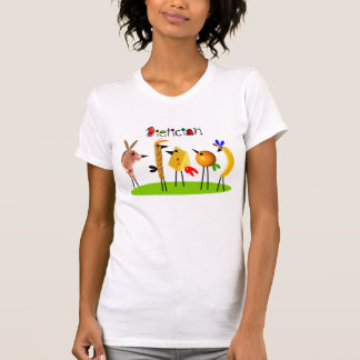 Whimsical Dietician T-Shirts Food Birds