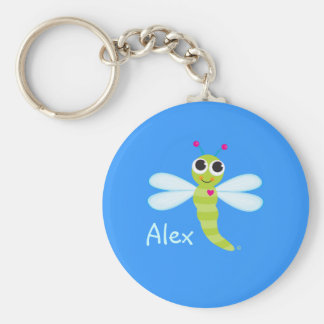 Whimsical Dragonfly Keychain
