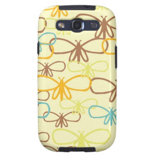Whimsical Dragonfly Line Art Butterflies Galaxy SIII Case