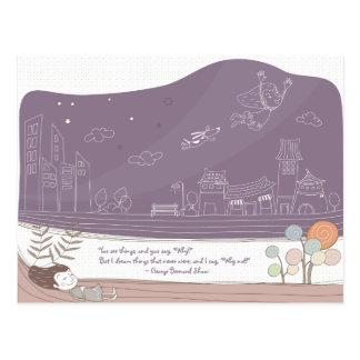 Whimsical Dreamscape 1 Postcard