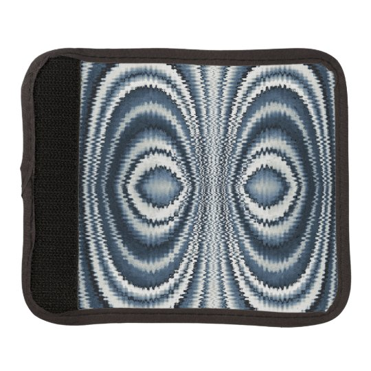 Whimsical Earth Toned Blue Abstract Pattern Luggage Handle Wrap