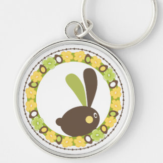 Whimsical Easter Bunny Keychain