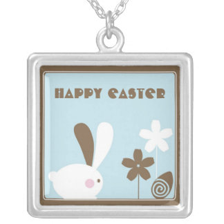Whimsical Easter Bunny Necklace