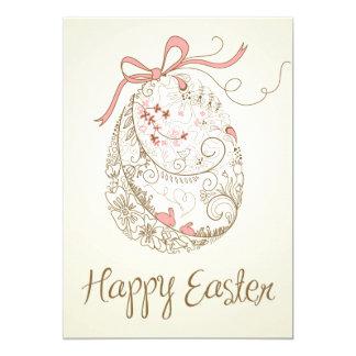 "Whimsical Easter Egg | Vintage Flat Easter Card 5"" X 7"" Invitation Card"