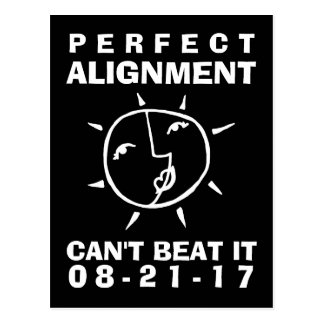 Whimsical Eclipse Perfect Alignment Postcard