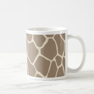 whimsical elegant giraffe monogram coffee mug