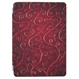 Whimsical Elegant Textured Red Swirl Pattern iPad Air Cover