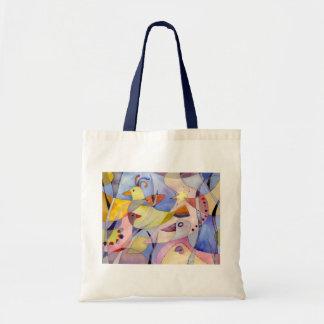 Whimsical Elegant Watercolor Birds Tote Bag