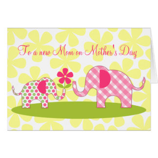 Whimsical Elephants First Mother's Day Card