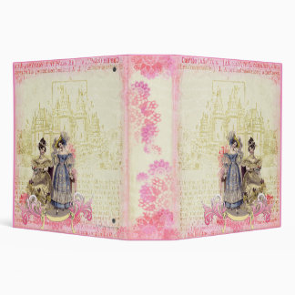 Whimsical Fairytale Castle Collage Art Binder