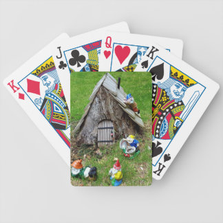 Whimsical Fantasy Outdoor Gnomes With House Bicycle Playing Cards