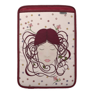 Whimsical, Feminine Art Nouveau Woman Portrait Sleeves For MacBook Air