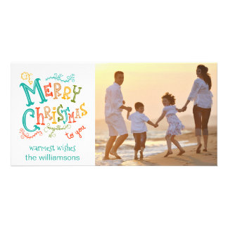 Whimsical, Festive & Fun Christmas Holiday Photo Card